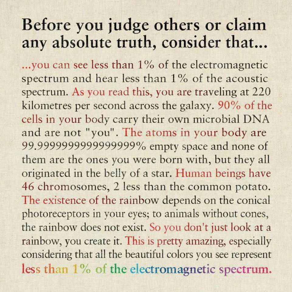 Before you judge others...